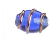 Glass Wired Lamp Bead 12x8mm Sapphire